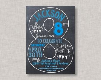 Boy birthday invitations etsy eighth birthday invitation 8th birthday invitation boy birthday invitation photo invitation 8th number 8 eighth birthday boy birthday stopboris Image collections