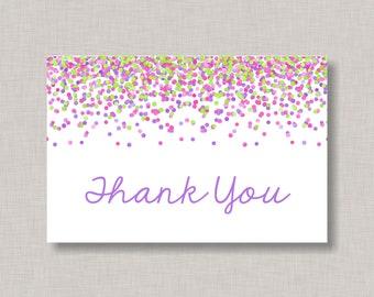 confetti thank you etsy