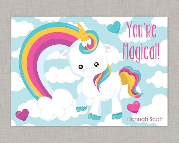 Valentine classroom cards unicorn valentine card classroom il570xn m4hsunfo