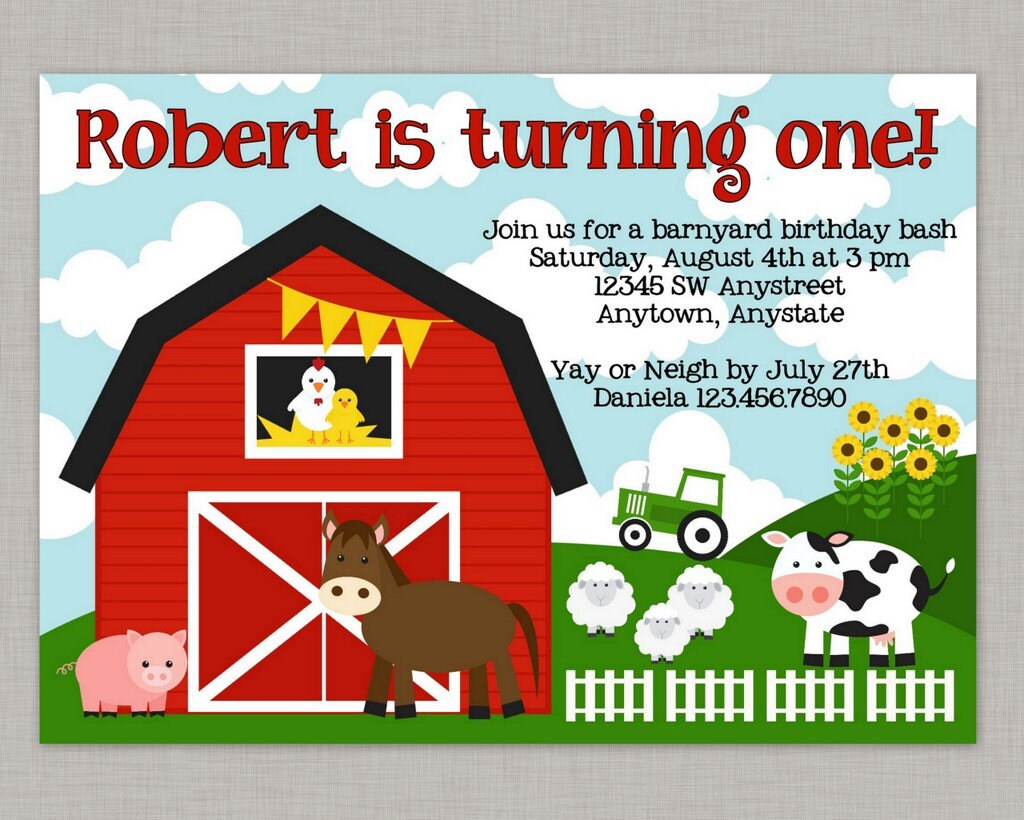 Farm Birthday Invitation Farm Invitation Farm Birthday | Etsy