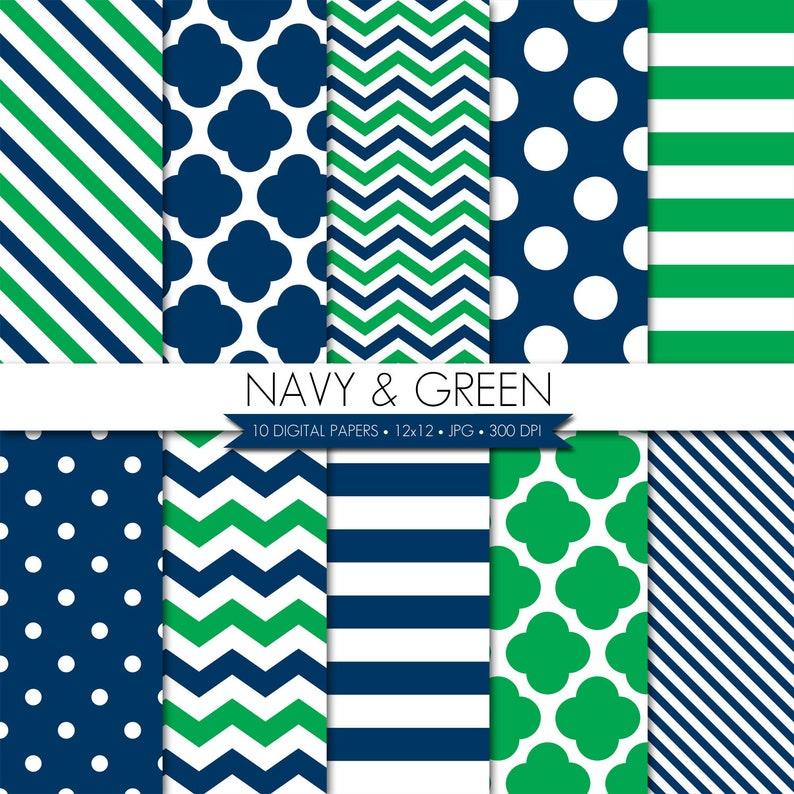BUY 2 GET 1 FREE Digital Paper,Navy Green Digital Paper,Navy Green Scrapbook Digital Paper,Digital Paper Pack,Digital Scrapbook Paper