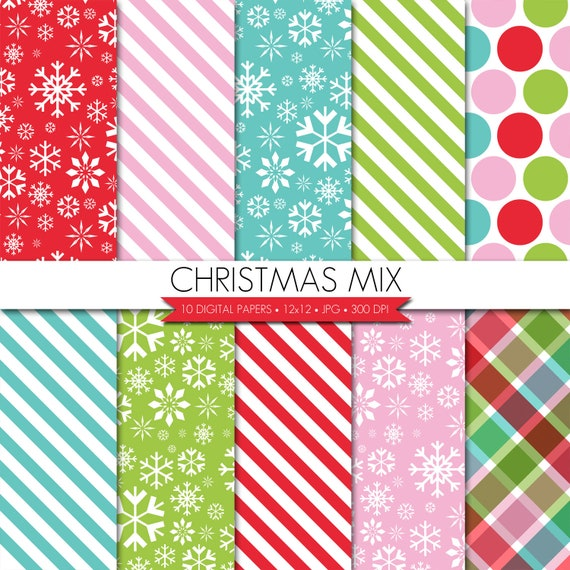 Digital Christmas Scrapbooking Papers