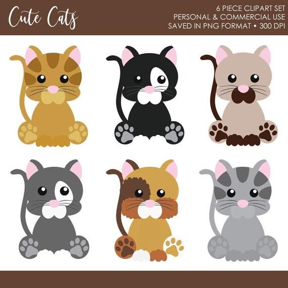 Buy 2 Get 1 Free Cat Clipartcat Clip Artcute Cat Etsy