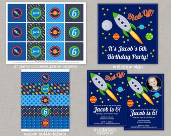 Outer Space Birthday, Space Birthday, Outer Space Party, Space Party, Decorations, Printable