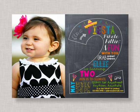 Fiesta Invitation Fiesta Birthday Invitation Fiesta Second