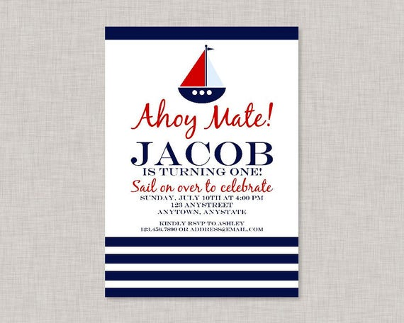 Nautical Invitation Birthday