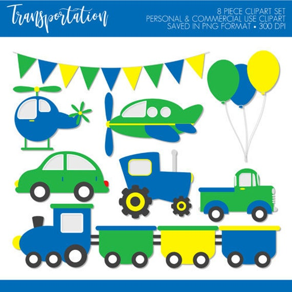 Buy 2 Get 1 Free Transportation Clipart Transportation Clip Art Car Truck Clip Art Train Clipart Plane Clipart Helicopter Clipart Tractor By The Paper Blossom Shop Catch My Party
