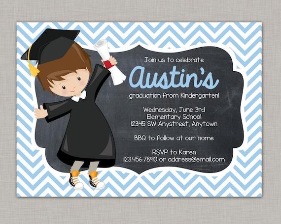 kindergarten graduation invitation preschool graduation invitation