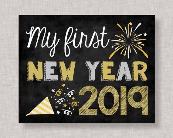 My First New Year Sign,My First New Years,First New Year Sign,My ...
