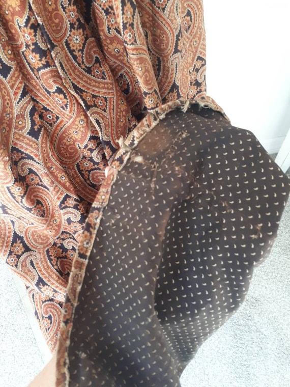 Antique Victorian 1890's Paisley Wrapper Dress Mu… - image 9