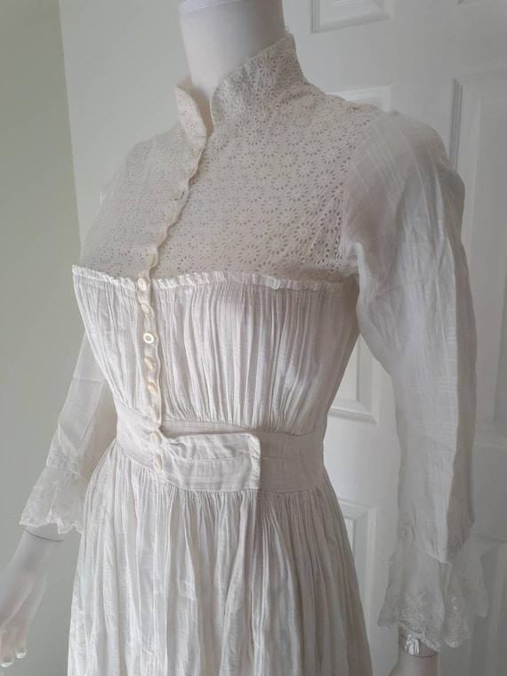 Antique 1900 Prairie Farm Everyday White Cotton C… - image 6