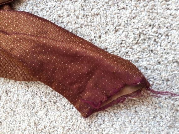 Antique Victorian 1890's Huge Mutton Sleeve Silk … - image 10