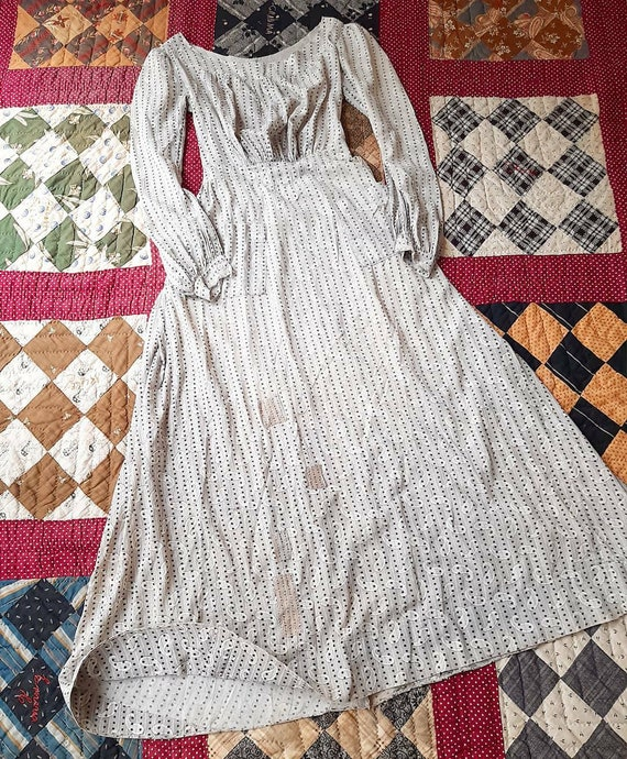 Antique Early 1900s Prairie Country Calico Day Dre