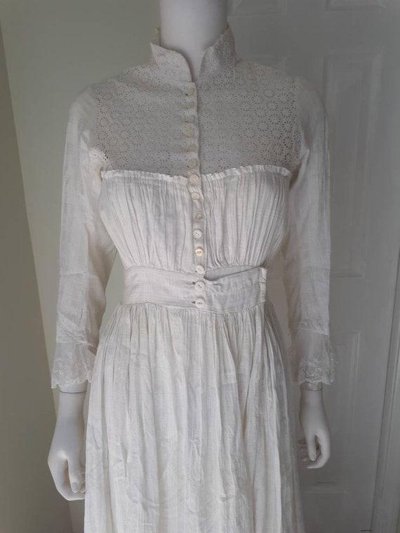Antique 1900 Prairie Farm Everyday White Cotton C… - image 4