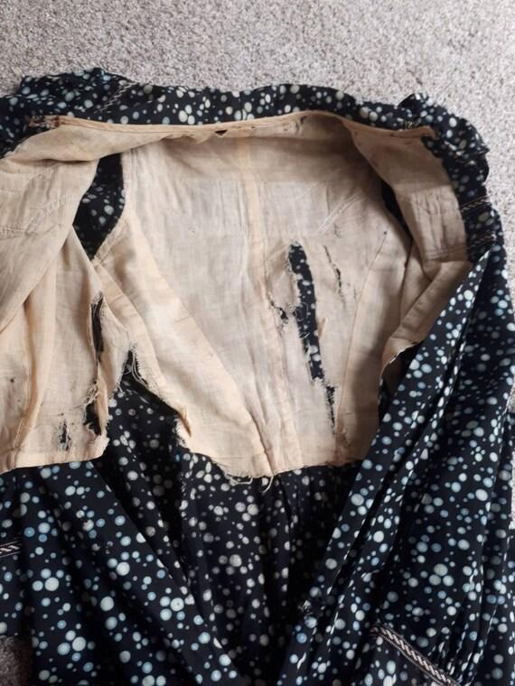 Antique Victorian Edwardian 1900 Cotton Calico Pr… - image 9