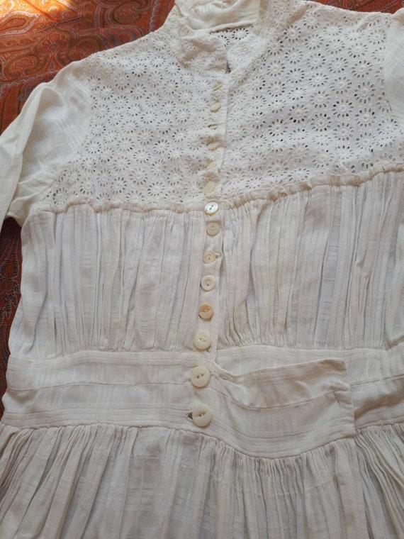 Antique 1900 Prairie Farm Everyday White Cotton C… - image 7