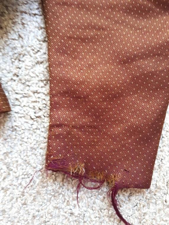 Antique Victorian 1890's Huge Mutton Sleeve Silk … - image 9