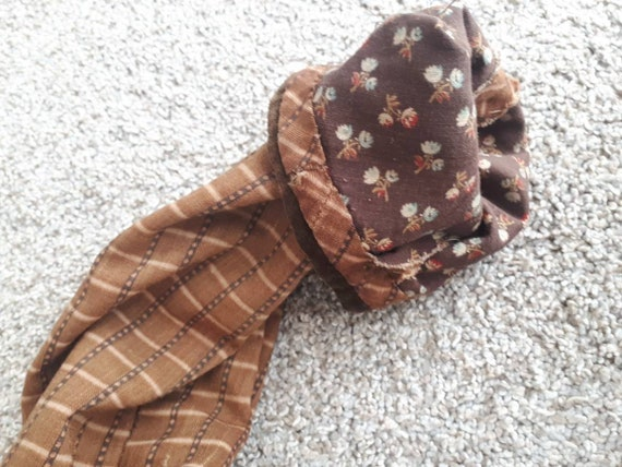 Antique 1800s Victorian Pioneer Calico Work Wrapp… - image 5