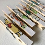 25 Classic Winnie the Pooh Baby Shower Clothespins -  - Classic  Winnie - Set of 25 - Disney Cruise Fish Extender