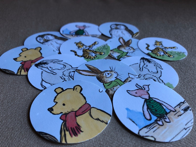 Classic Winnie the Pooh Cupcake Toppers  DIY  Baby Shower image 0