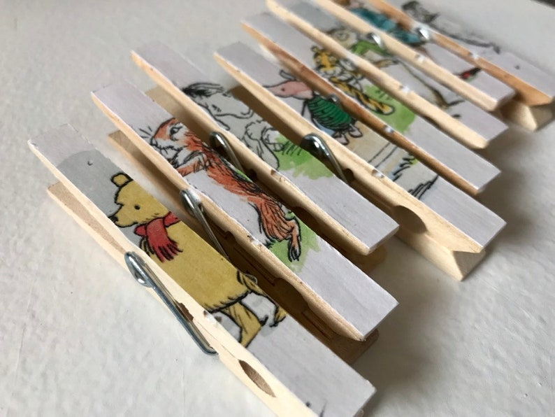 Classic Winnie the Pooh Baby Shower Clothespins  Magnets  image 0