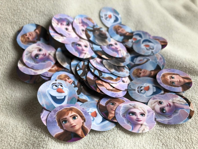 Frozen Two Confetti Party  100 Pieces 1 Inch Round  Baby image 0