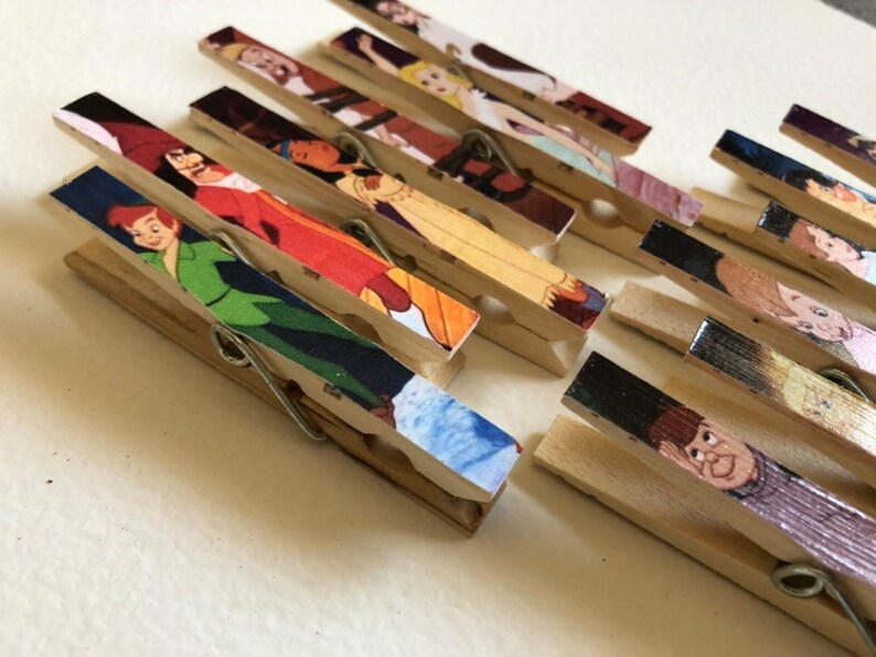 Peter Pan First Birthday Photo Clips  Set of 12 Clothespin image 0