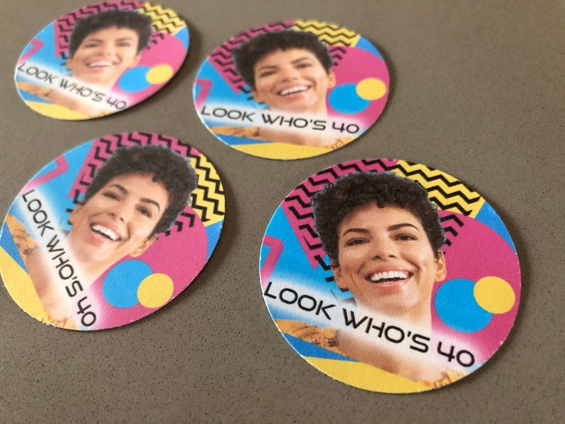 80s or 90s Cupcake Toppers Photo DIY Cutouts  Set of 24 image 0