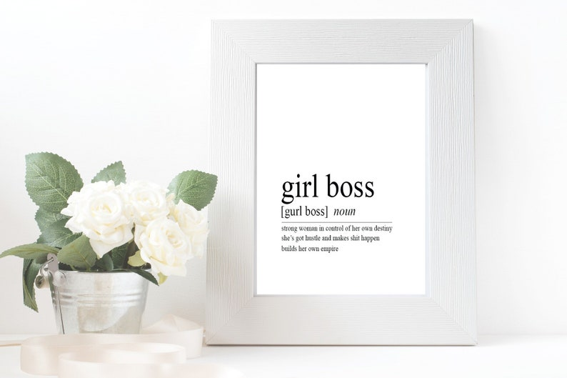 Girl Boss Wall Art Digital Download Printable Sign  Girl Boss image 0