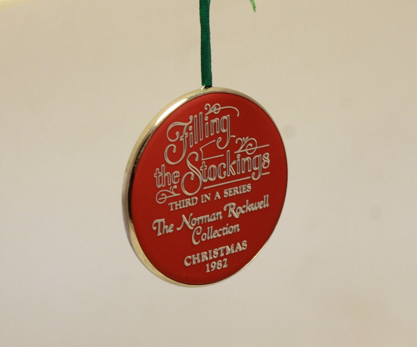 1982 Norman Rockwell Christmas Tree Ornament In The