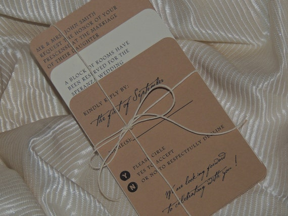 Natural Rustic Wedding Invitation
