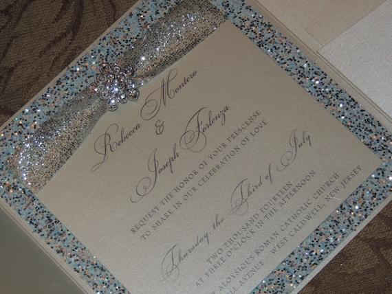 Frozen Inspired Wedding Invitation - Winter Wedding Invitation