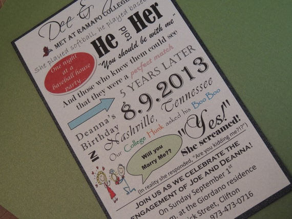 Love Story Invitation - Weddings and Engagement Invitation