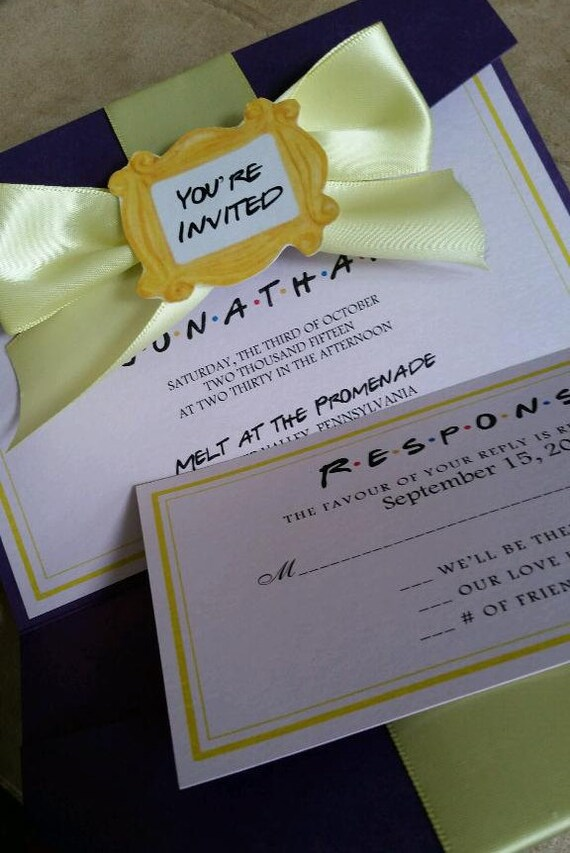 Friends Theme Wedding / Party Invitation