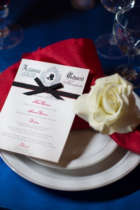Snow White Wedding Menu - Snow White Inspired Wedding