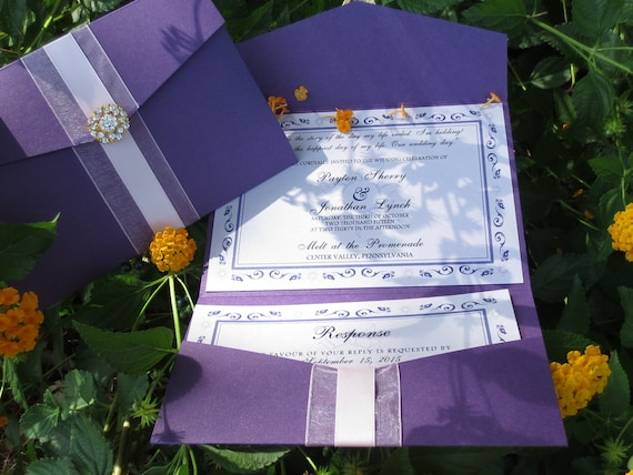 Tangled Wedding Invitation - Rapunzel Inspired Wedding Invitation