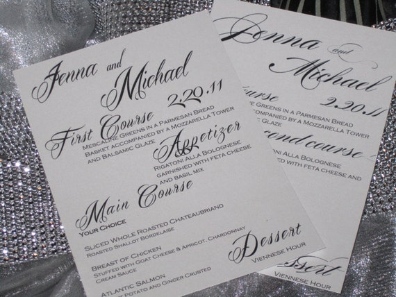 Wedding Menus - Calligraphy Fonts