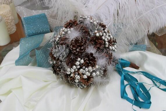 Pinecone Bouquet - Winter Wedding Bouquet