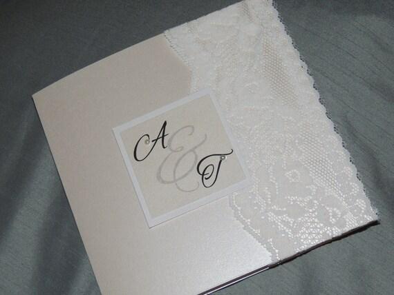 Lace & Pearl Wedding Invitation