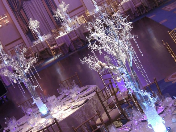 Crystal Wedding Tree Centerpieces - Manzanita