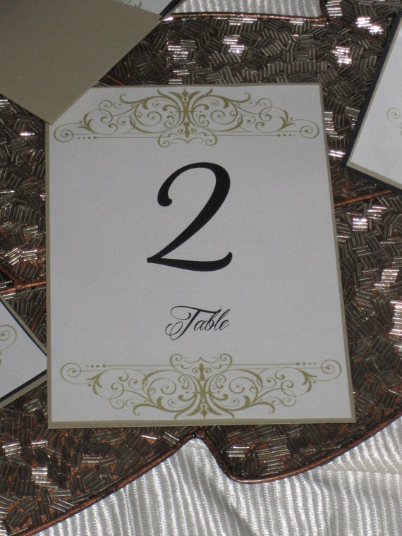 Scroll Table Number - Wedding