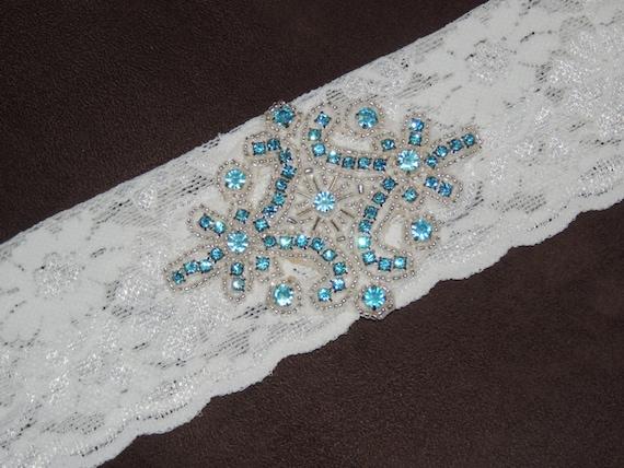 Lace Wedding Garter - Something Blue