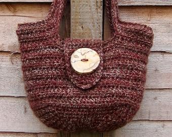 Crochet Purse PDF Pattern, Seamless Crochet Handbag, Medium Size Shoulder Bag pdf Instant Download Pattern, US and UK Crochet Terms