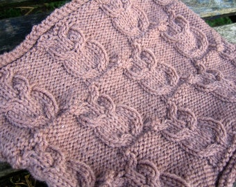 Cowl Knitting Pattern, Owl Cables, PDF Instructions, Scarf Neck Warmer with Owl Motif, the Owl Cowl