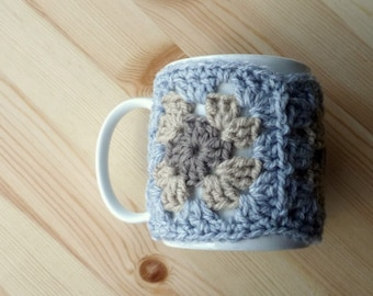 Mug Cosy PDF Crochet Pattern Granny Squares Instant Download Quick & Easy Crochet