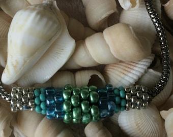 Beadweaving-Jewelry Slide- Seed Beads