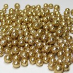 Miniature gold glitter balls foam 3mm to 6mm deco marbles heaping tablespoon / 15ml for mini crafts kawaii decoden tiny