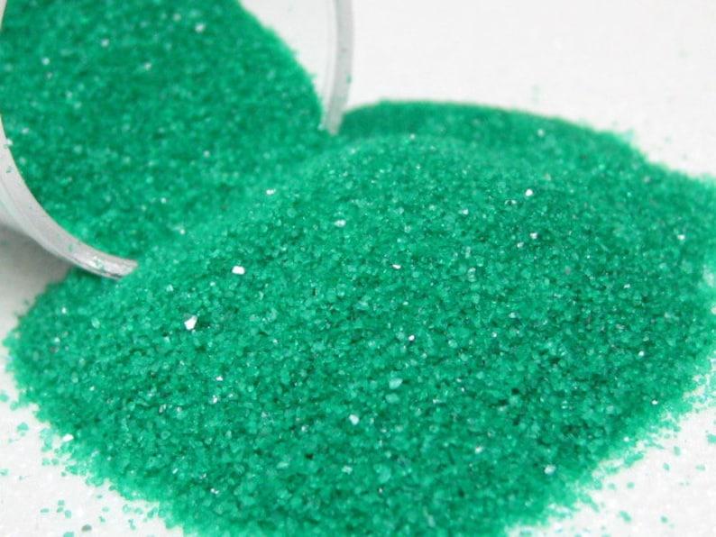 green kawaii fake sugar sprinkles half ounce / 14 grams image 0