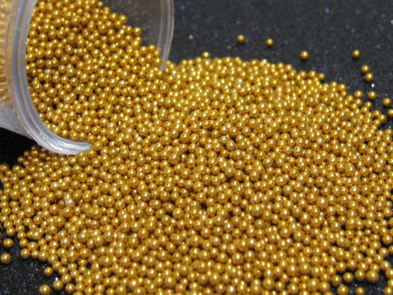 micro marbles 1mm golden copper half ounce / 14 grams glass image 0