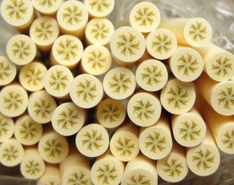 Polymer clay banana cane fruit 1pcs for miniature foods desserts sundae topping decoden and nail art supplies